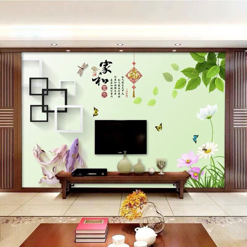 有没麦友家装过8d立体电视背景墙壁纸画布?